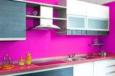 Kitchen counter pink — Stock Photo