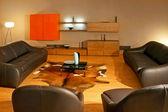 Leather sitting area — Stock Photo