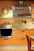 Metallic kitchen — Stock Photo