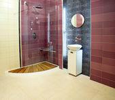 Purple bathroom — Stock Photo