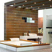 Wooden bath — Stock Photo