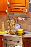 Wooden kitchen stove — Stock Photo