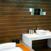 Wooden lavatory — Stock Photo