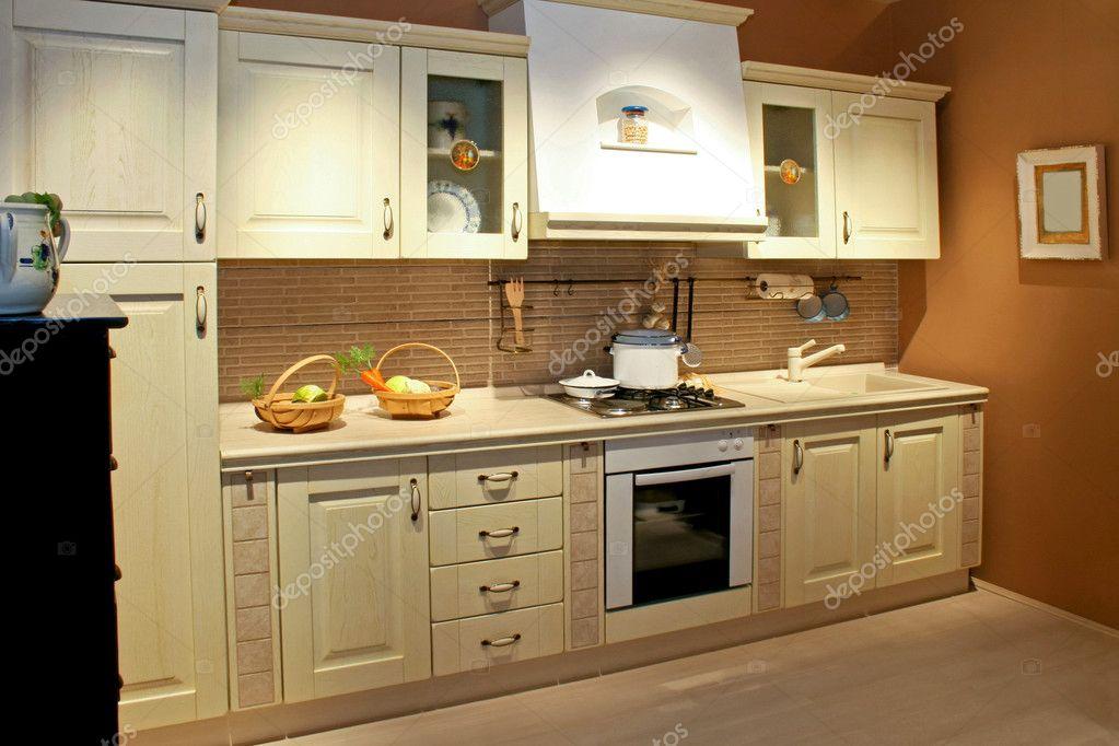 gro e vintage k che stockfoto baloncici 3292823. Black Bedroom Furniture Sets. Home Design Ideas