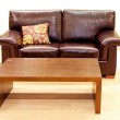 Leather living room — Stock Photo