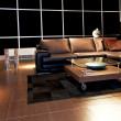 Living room brown — Stock Photo