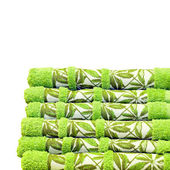 Green towels — 图库照片