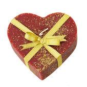 Heart with ribbon — Stock Photo