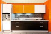 кухня большой оранжевый — Стоковое фото