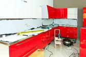 厨房中的进展 — 图库照片