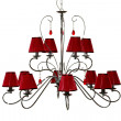 Chandelier red - Foto Stock