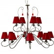 Chandelier red - Stockfoto