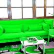 Green sofa — Stock Photo