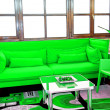 Royalty-Free Stock Photo: Green sofa