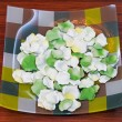 Stock Photo: Plate with petals