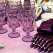 Purple candles — Stockfoto
