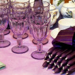 Purple candles — Stock Photo