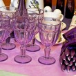 Stock Photo: Purple glass