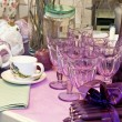 Stock Photo: Purple table