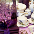 Purple tableware — Stock Photo