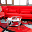 Red sitting area — Stock Photo