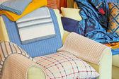 Poltrona e cobertor — Fotografia Stock