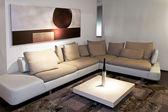 Wohnzimmer-grau — Stockfoto