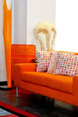 Orange furniture — Stock Photo
