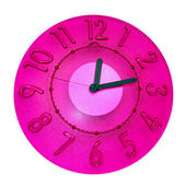 Pink clock — Stock Photo