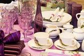 Purple kitchenware — Stock Photo