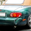 Crashed cabriolet — Stock Photo