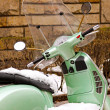 Royalty-Free Stock Photo: Motorcycle in snow