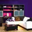 Purple living room — Stock Photo #3466168