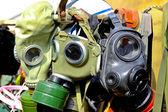 Máscaras de gás — Foto Stock