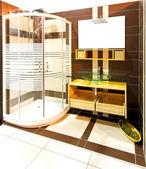 茶色の浴室 — ストック写真