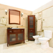 Classic style bathroom — Stock Photo