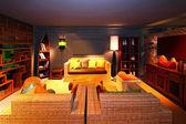 Oriental living room — Stock Photo