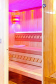 Pink sauna — Stock Photo