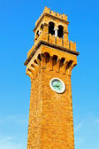 Murano clock tower — Stock fotografie