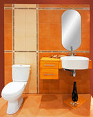 Orange bathroom — Stock Photo
