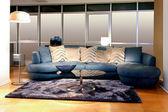 Mavi koltuk — Stok fotoğraf