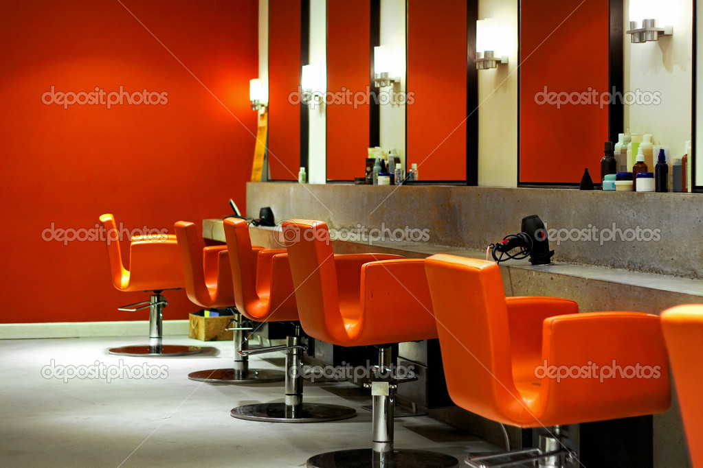 Modern hair salon stock photo baloncici 3489861 for Photo salon moderne