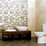 Gray bathroom — Stock Photo