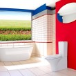 Large bathroom — Stock Photo