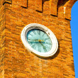 Murano clock — Stock Photo