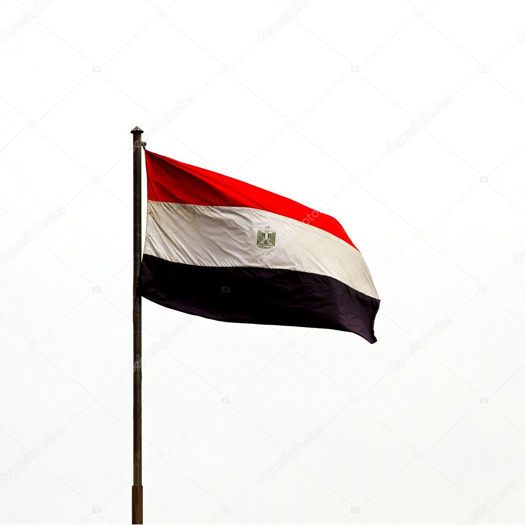 National flag of Egypt flying at wing  — Stock Photo #3492201
