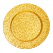 Golden plate — Stock Photo