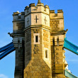 Tower bridge pillar — Stock Photo