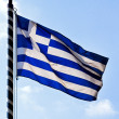 Greek cross flag — Stock Photo