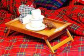 Breakfast tray — Stock Photo